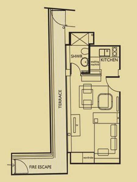 London Studio Apartment Apartment Layout Ln 656