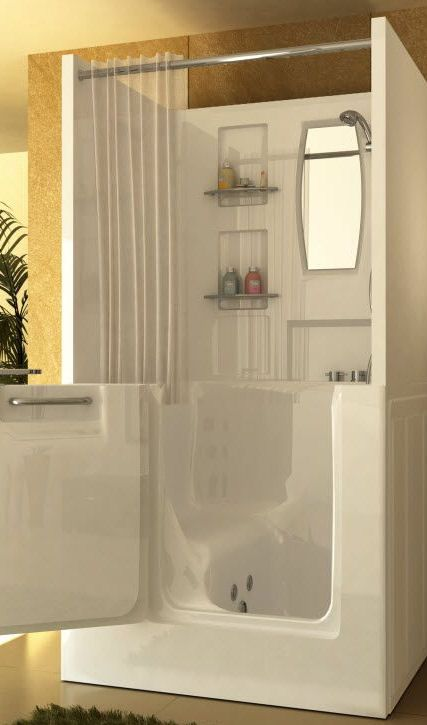 The Best Walk In Shower And Bath Combinations Walk In Tubs Walk In Bathtub Walk In Tub Shower Combo Small Spaces