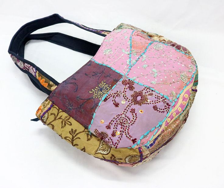 Women Shoulder Cotton Bags Vintage Embroidered Shopping Bag Hippie Woman Bgas #Handmade #ShoulderBags