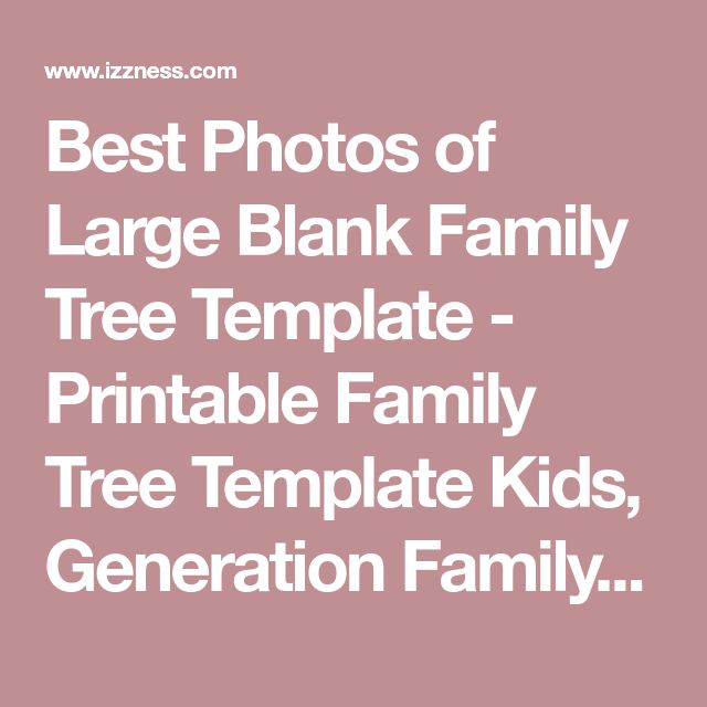 Best 25+ Blank family tree template ideas on Pinterest Blank - family tree example