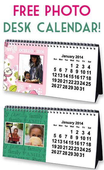 FREE Photo Desk Calendar! {just pay s/h} Expires 11/30/13