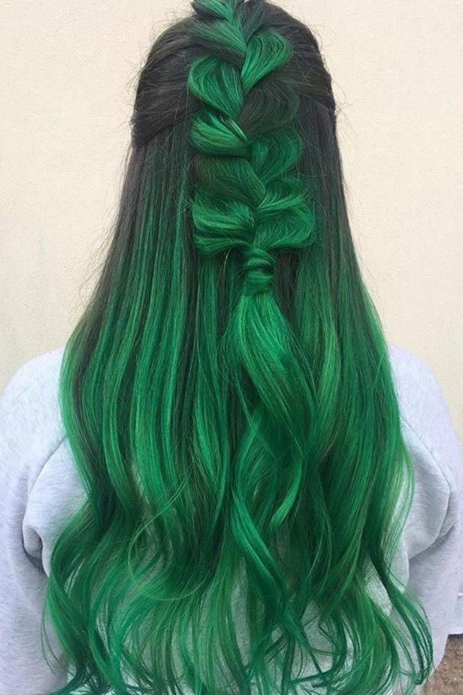 green hair ideas