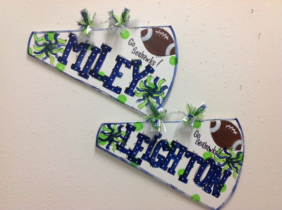 Cheer megaphone personalized custom by TWOPINKDOTS on Etsy