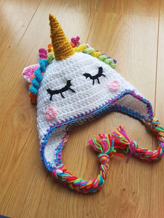 e712df62fcb Unicorn Hat Rainbow Hat Crocheted Unicorn Kids Unicorn Hat Unicorn Hat