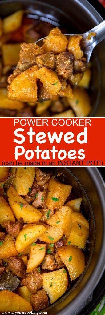 power-cooker-stewed-potatoes-recipe-instant-pot-friendly-recipe-alyonascooking-braised-potatoes-recipe-ukrainian-