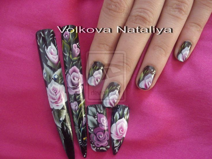 Nail art. Micropittura. Pittura cinese by natavol.deviantart.com on @deviantART