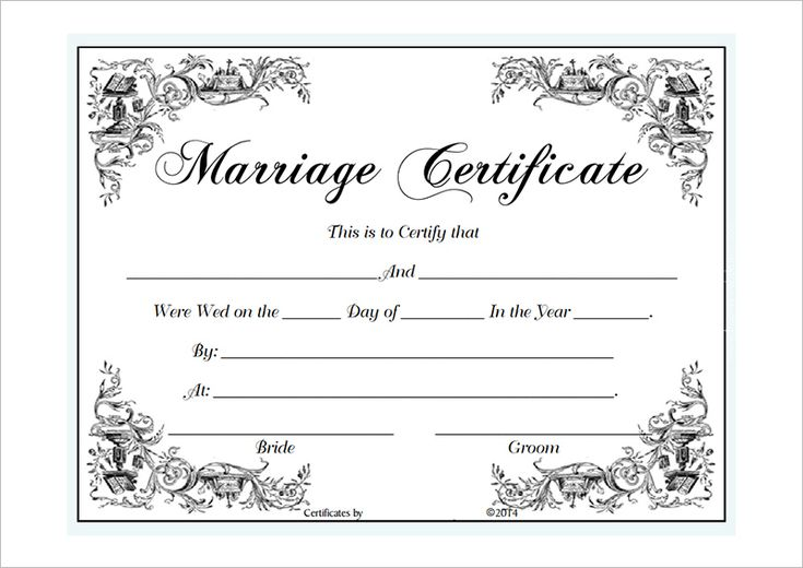 Marriage Certificate Template Microsoft Word : Selimtd