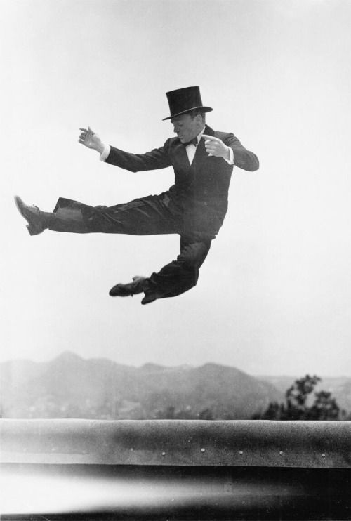 James Cagney. Watching Cagney dance is like watching an eagle fly.  Soaring, sweeping, and so cool.