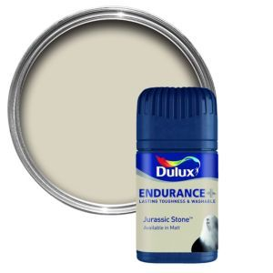 Dulux Endurance Jurassic Stone Matt Emulsion Dulux Endurance Jurassic Stone Matt Emulsion Paint 50ml Tester Pot.This Jurassic stone Endurance emulsion paint has been specially designed to give a stunning finish to your walls  ceilings. Simply a http://www.MightGet.com/april-2017-1/dulux-endurance-jurassic-stone-matt-emulsion.asp