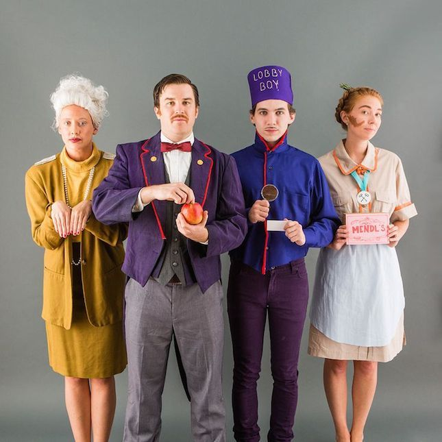 Wes Anderson fans, transform into the cast of Grand Budapest Hotel for Halloween…