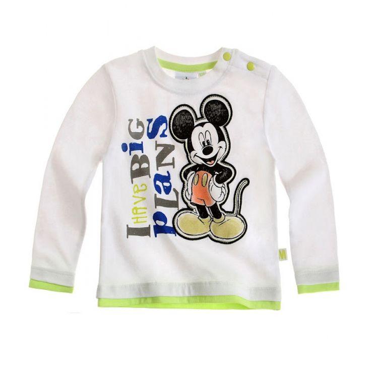 Bluza cu maneca lunga Disney Mickey alba