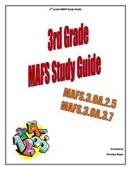 3rd grade MAFS Study Guide is a tool to review the Mathematics Florida Standards as a Test Prep. The study guide uses examples from the FSA Test Item Specification. This study guide covers MAFS.3.OA.2.5; MAFS.3.OA.3.7. It is a 5 days review that includes problems with multiple choice, multi-response and table response. It uses repetition as an instructional strategy. Students will solve similar problems every day with the goal of mastering these standards after the 5th day.