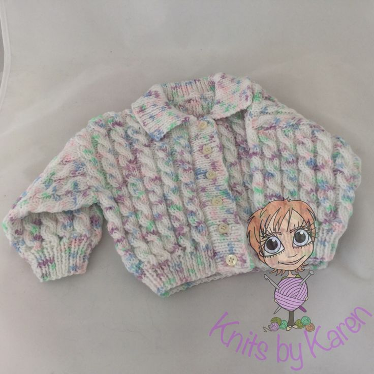 Baby Hand Knitted Cabled Cardigan