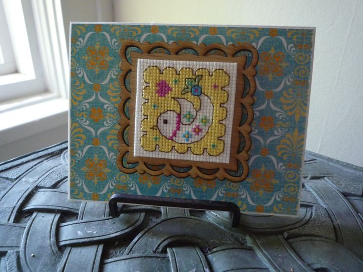 To Make You Smile, Hand Stitched Card and Magnet by HMCrafters on Etsy
