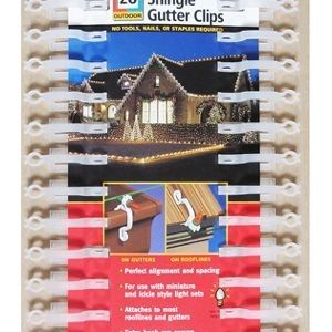 Mini Light Shingle or Gutter Clip 52-count package