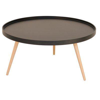 Nordic soffbord Runt 90 cm - Svart