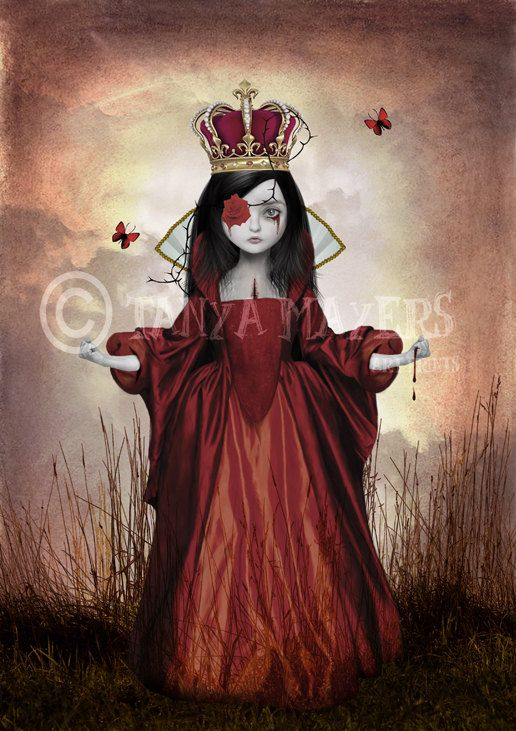 Queen Of Hearts Gothic Fairytale Art by HarrietsImaginations, $17.00