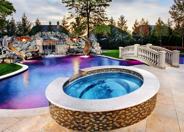 Superb This Beautiful Pool Has Not One But Two Water Slides And Would Make An  Awesome Addition To Almost Any Backyard Would You Want A Pool Like This