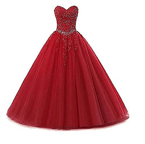 d1e88dd33e2 New AIJIAYI Girls Strapless Beading Lace Quinceanera Dresses Long Sweetheart  Quinceanera Prom Ball Gowns WJ1813 online