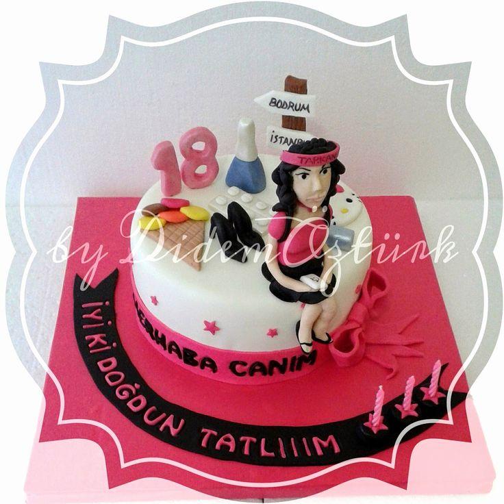 Butik Pasta Tasarım : 18 Yaş Temalı Doğum Günü Pastası
