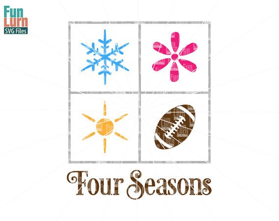 Four Seasons SVG Its fall Play Ball SVG Football SVG by FunLurnSVG