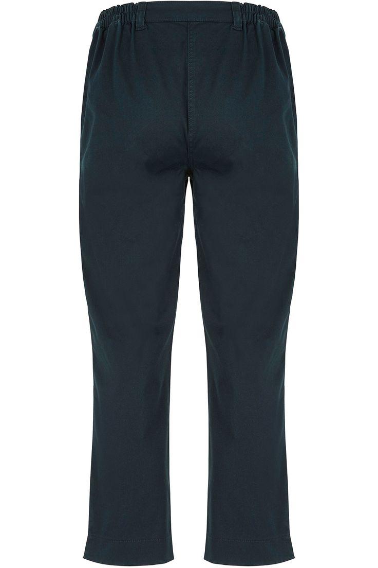 Cotton Stretch Twill Capri Trousers