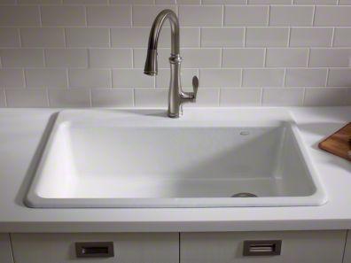 13 best kitchen sinks kohler images on pinterest single bowl kohler riverby x x top mount single bowl enameled cast iron workwithnaturefo