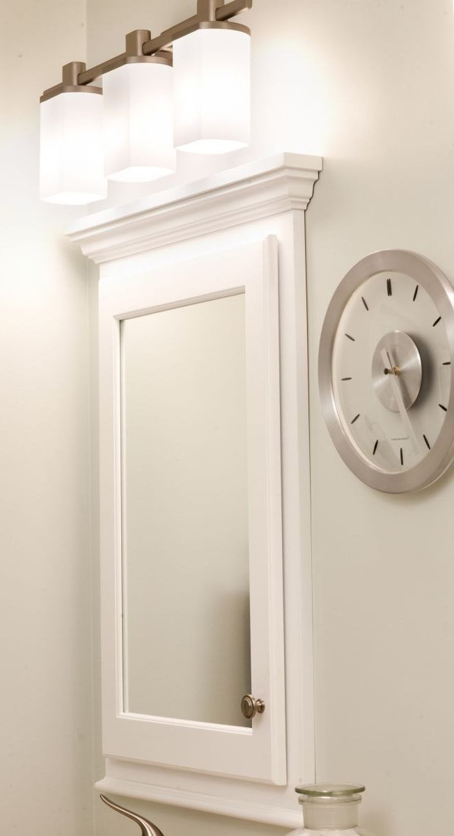 Recessed medicine cabinet with mirror bathroom re do - Bathroom mirrors and medicine cabinets ...