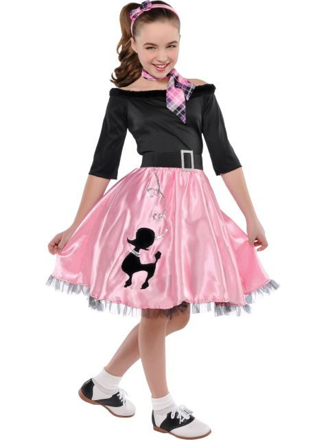 Girls Miss Sock Hop Costume - Party City - I hope I can get this one in time for Ava's Dance....