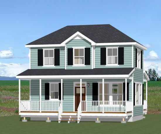 28x16 tiny house 28x16h3a 821 sq ft excellent for 28x36 cabin plans
