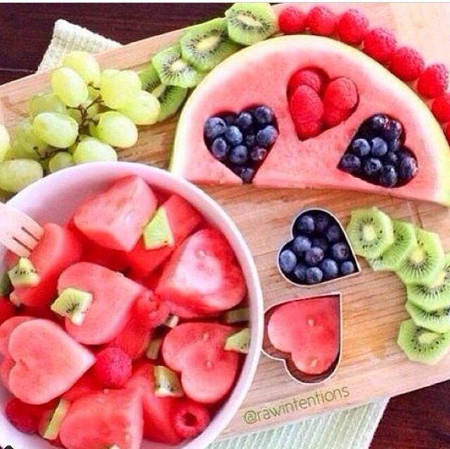 Fun valentines day fruit display :)