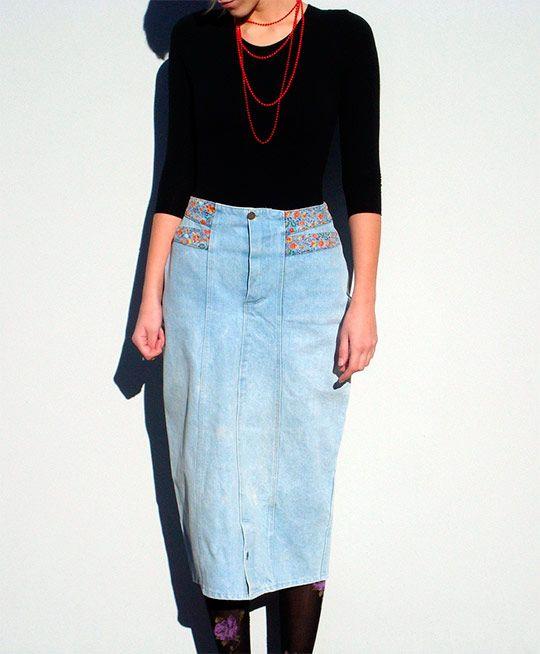 модные джинсовые юбки фото 2013