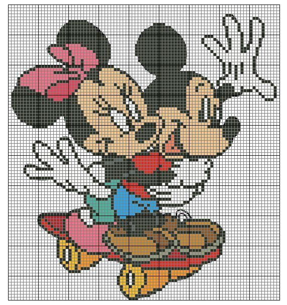 Points de croix *@* SCHEMA MINNIE E TOPOLINO