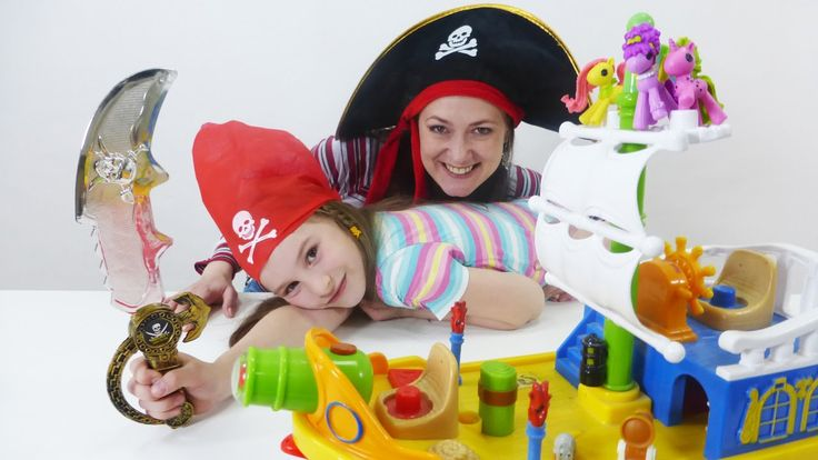 Видео про игрушки Лалалупси. Теперь мы пираты! Новые игры с Гёрл Квест. ...