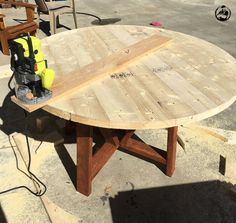 DIY Round Trestle Dining Table - Step 10