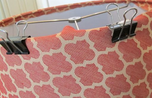 Updating Lamps with Drum Shades. How to Cover with Fabric.