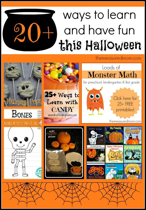 Halloween Learning Activities for School Aged Kids (and the After School Linky!)