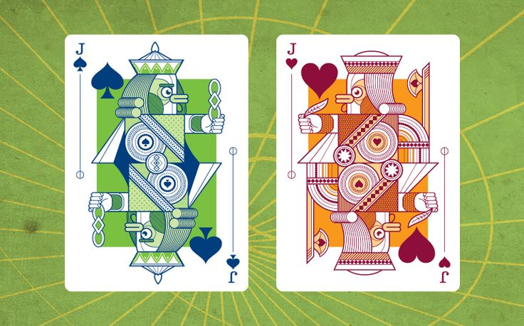 Jack of Hearts and Jack of Clubs #Delirium https://www.kickstarter.com/projects/thirdwayind/delirium-playing-cards