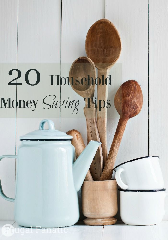Here are 20 household money saving tips to help you find small ways to save money around your house every day.