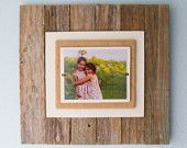 Items similar to Recalimed wood Large Frame aprox 2x2ft holds 8x10 photo on Etsy
