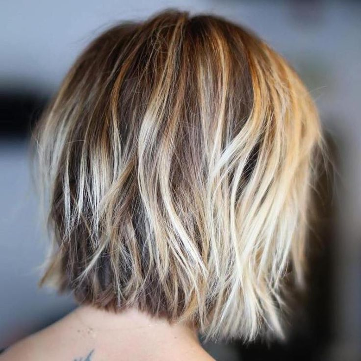 Shaggy Blonde Balayage Bob... love the COLOR