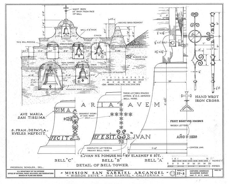 Architectural_Drawing_of_Belltower_Mission_San_Gabriel.jpg (2000×1614)
