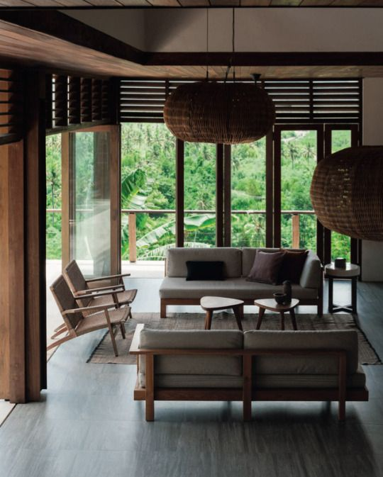 In Indonesia On Lombok Island A Stunning Villa Overlooks The Jungle And