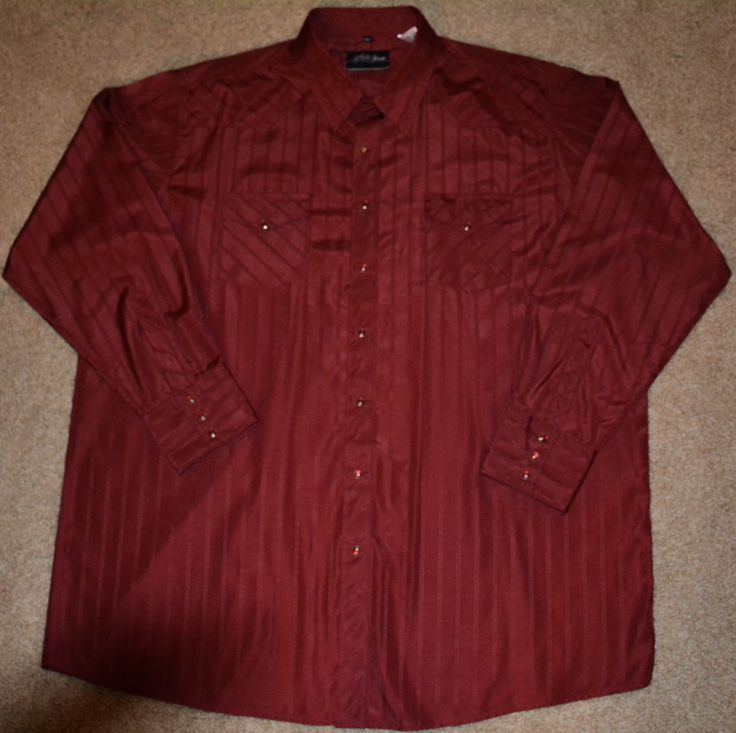 White Horse Men's Size XXL Vintage Western Rockabilly Shirt with Snap Buttons