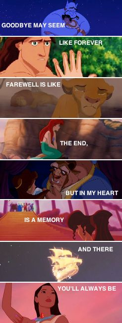 disney quote that tells you saying goodbye doesn t have to