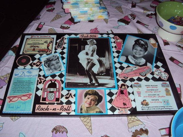 Sock hop 50 39 s theme birthday party ideas centerpiece for 50s party decoration ideas