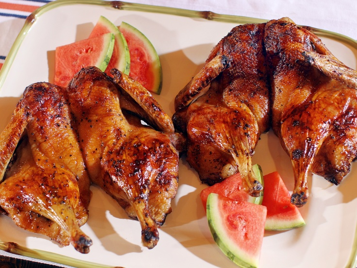Butterflied Grilled Duck with Spicy Watermelon Glaze from ...