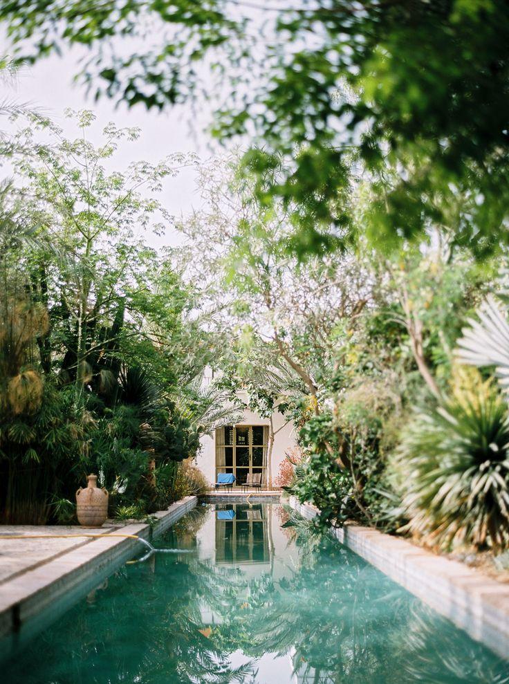the lap pool of the hotel Dar Al Hossoun in Taroudant, Morocco