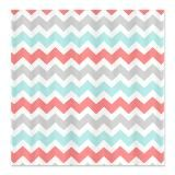 coral shower curtain  | Teal Shower Curtains | Teal Fabric Shower Curtains - CafePress