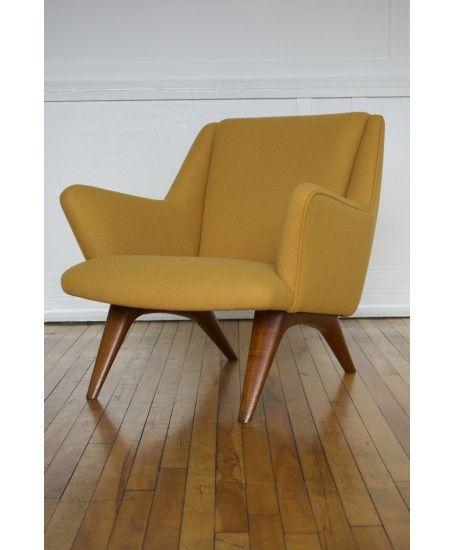Mid Century 1950's Danish ML Armchair by Illum Wikkelso for Mikael Laursen in Kvadrat Wool